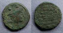 "Ancient Coins - Roman Republic, Anonymous ""Staff series"" Circa 208 BC, Sextans"