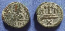 Ancient Coins - Byzantine Empire, Maurice Tiberius 582-602, Decanummium