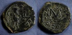 Ancient Coins - Byzantine Empire, Heraclius 610-641, Follis