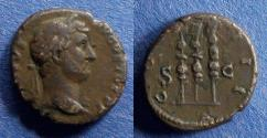 Ancient Coins - Roman Empire, Hadrian 117-138, Quadrans