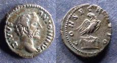 Ancient Coins - Roman Empire, Divo Pius d. 161, Denarius