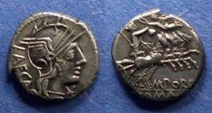 Ancient Coins - Roman Republic, M Porcius Laeca 125 BC, Denarius