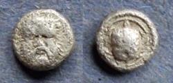 Ancient Coins - Lesbos, Methymna 350-250 BC, Hemiobol
