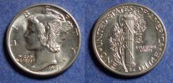 Us Coins - United States,  1943, Silver Mercury Dime, MS64