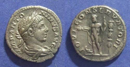 Ancient Coins - Roman Empire, Elagabalus 218-222 AD, Denarius