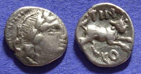Ancient Coins - Atrebates - Ticomarus AR Unit - 25BC - 10AD