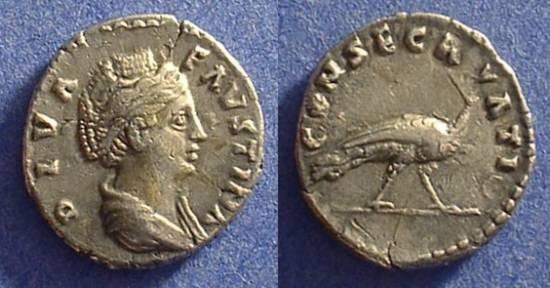 Ancient Coins - Faustina Sr. d. 141AD Denarius