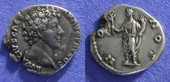Ancient Coins - Roman Empire - Marcus Aurelius (Caesar) 138-161 - Denarius