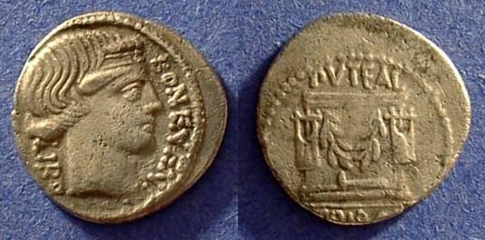 Ancient Coins - Roman Republic - Denarius - Scribonia 8a