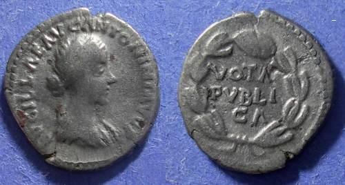 Ancient Coins - Roman Empire, Lucillia (Wife of L. Verus) 160-9, Denarius
