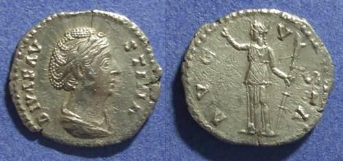 Ancient Coins - Roman Empire, Faustina Sr d. 141 AD, Denarius