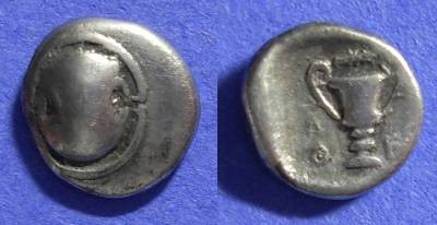 Ancient Coins - Thebes Boeotia - Hemidrachm