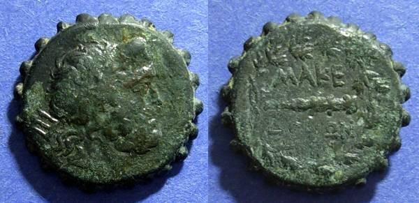 Ancient Coins - Macedonian Kingdom, Philip V & Perseus 221-168 BC, AE23 Serrate