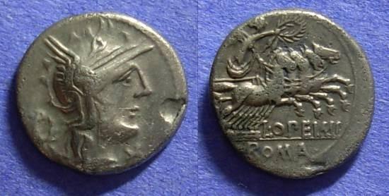 Ancient Coins - Roman Republic - Q Opimius - Denarius - 131 BC