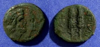 Ancient Coins - Sicily, Katane Circa 100 BC, AE13