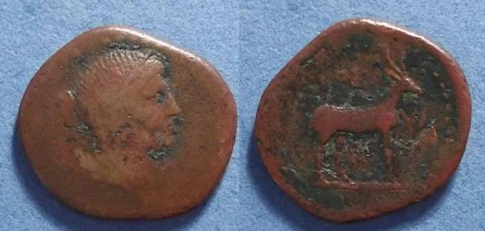 Ancient Coins - Cnossus (?) Crete, L Lollius: magistrate Circa 37 BC, As