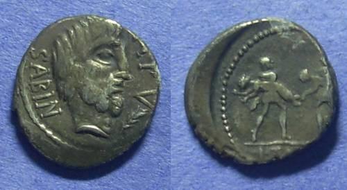 Ancient Coins - Roman Republic - L Titurius L f Sabinus Denarius - 89 BC