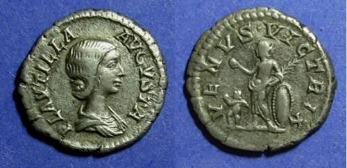Ancient Coins - Roman Empire, Plautilla d. 205, Denarius