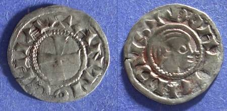 Ancient Coins - Crusader Antioch, Bohemond III 1149-63, Denier
