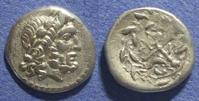 Ancient Coins - Achaian League, Patrai Achaia 167-146 BC, Hemidrachm