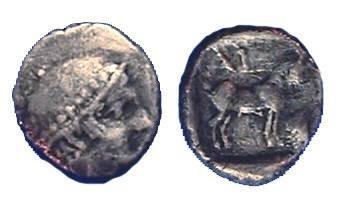 Ancient Coins - Ainos Thrace, Diobol Circa 435-405 BC