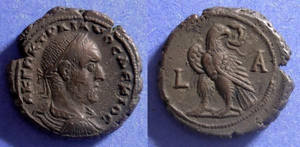 Ancient Coins - Roman Egypt, Trajan Decius 249-251, Tetradrachm