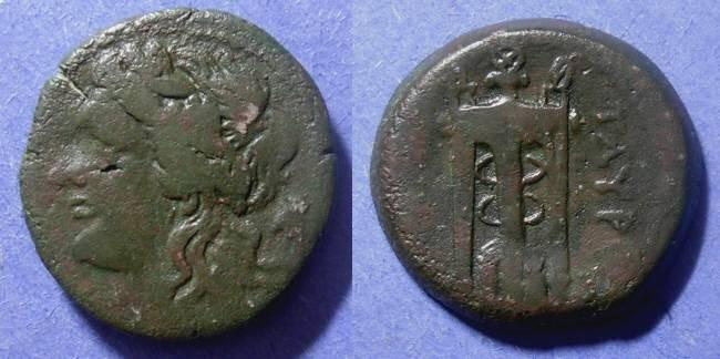 Ancient Coins - Tauromenion, Sicily 275-210, AE23