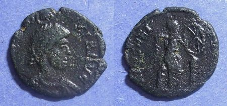 Ancient Coins - Roman Empire, Eudoxia (Wife of Arcadius) 400-404, AE4