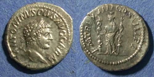 Ancient Coins - Roman Empire, Caracalla 198-211, Denarius