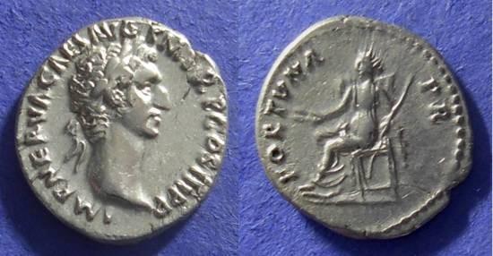 Ancient Coins - Nerva 96-98AD Denarius