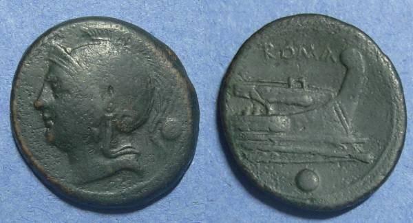 Ancient Coins - Roman Republic, Anonymous 217-215 BC, Uncia