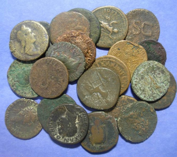 Ancient Coins - Roman Empire, 22 Aes & dupondii ,