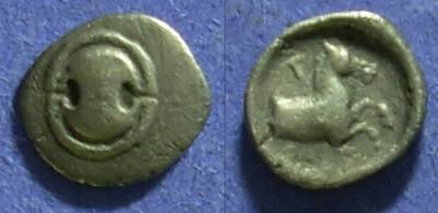 Ancient Coins - Tanagra Boeotia - Obol Circa 387-374BC