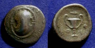 Ancient Coins - Boeotia, Federal Coinage 394-340 BC, Hemidrachm