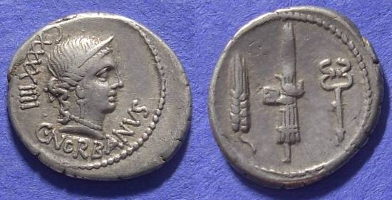Ancient Coins - Roman Republic – Norbana 2 Denarius – 83BC