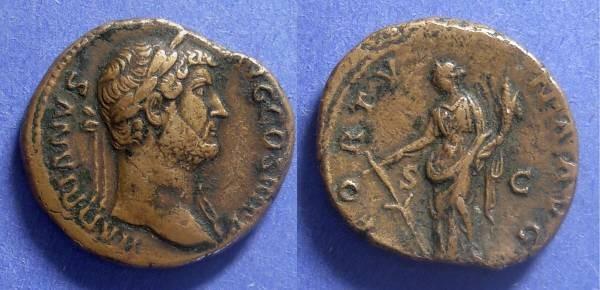 Ancient Coins - Roman Empire, Hadrian 117-138, Dupondus