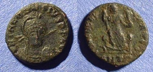 Ancient Coins - Theodosius II 402-450 AE16 with facing bust