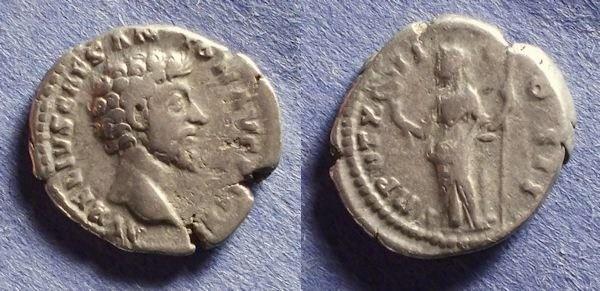 Ancient Coins - Roman Empire, Marcus Aurelius (as Caesar) 161-180, Denarius