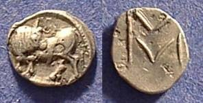 Ancient Coins - Sybaris Lucania Obol 530-510 BC