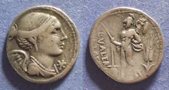 Ancient Coins - Roman Republic, L Valerius Flaccus 108-7 BC, Denarius