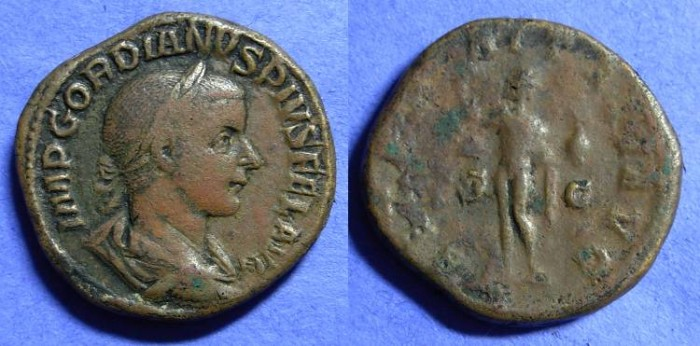 Ancient Coins - Gordian III 238-244AD - Sestertius