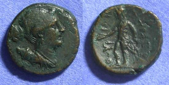 Ancient Coins - Thourioi Lucania - AE17 285-194BC