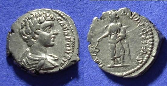 Ancient Coins - Caracalla (as Caesar) 196-198AD Denarius