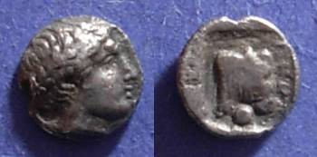 Ancient Coins - Pergamon, Mysia Circa 450 BC, Hemiobol