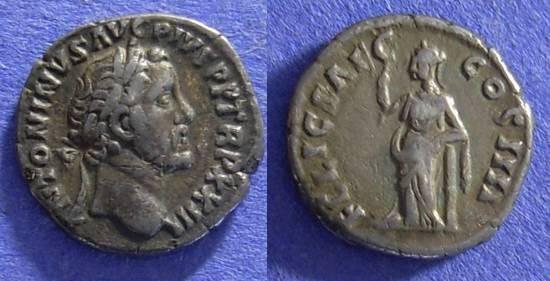 Ancient Coins - Roman Empire - Antoninus Pius 138-161 - Denarius