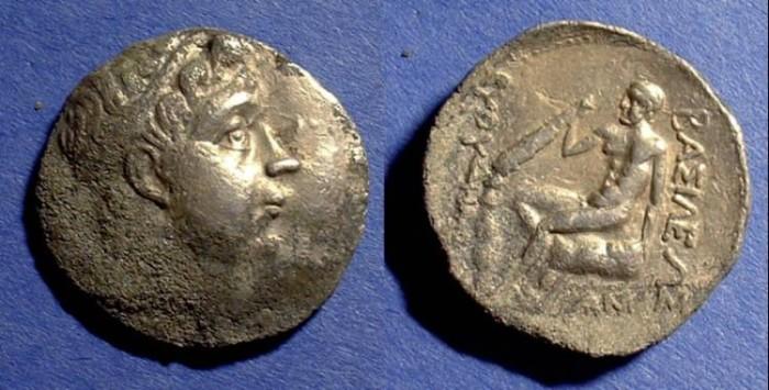Ancient Coins - Bactria - Euthydemos I 230-200 BC- Tetradrachm