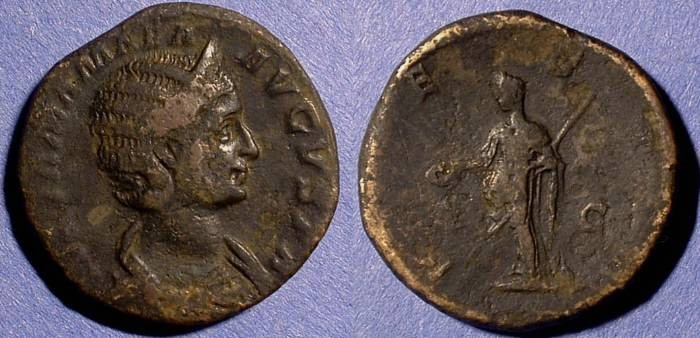 Ancient Coins - Julia Mamaea (Mother of Sev. Alexander) 222-235AD Sestertius
