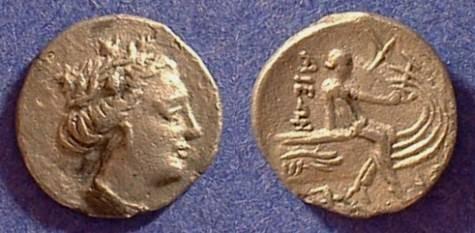Ancient Coins - Histiaea Euboea Tetrobol - 3rd Cent BC