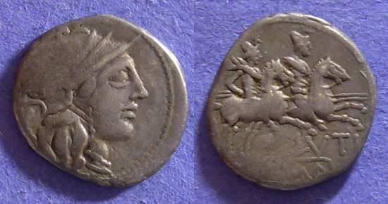 Ancient Coins - Roman Republic - Plutia 1 - 121 BC Denarius