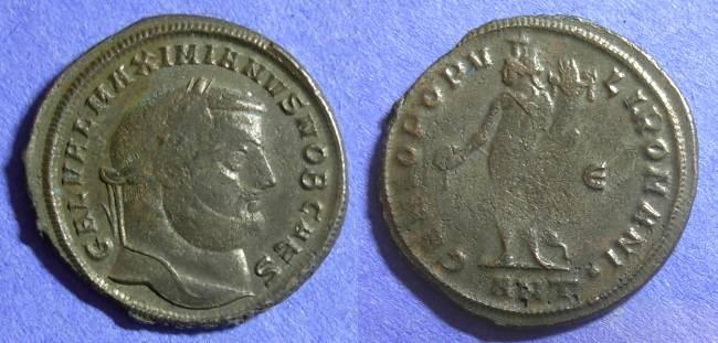Ancient Coins - Roman Empire – Galerius (Caesar) 293 -305 – Follis